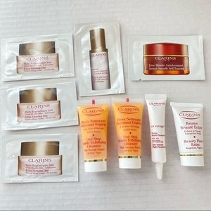 Lot Of 9 Clarins Cleanser Products Sample sizes